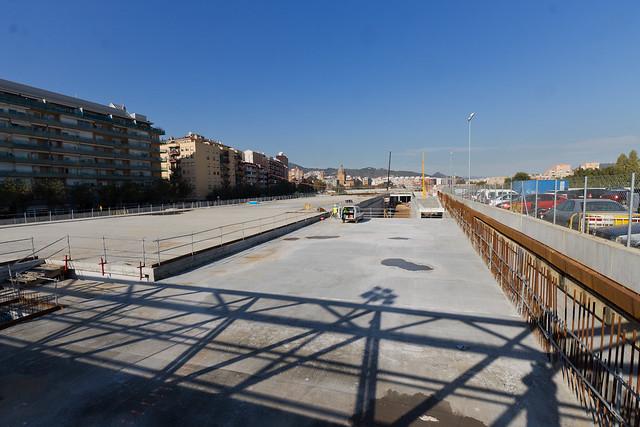 Triangle desde pasarela de peatones - Norte - 01-12-11