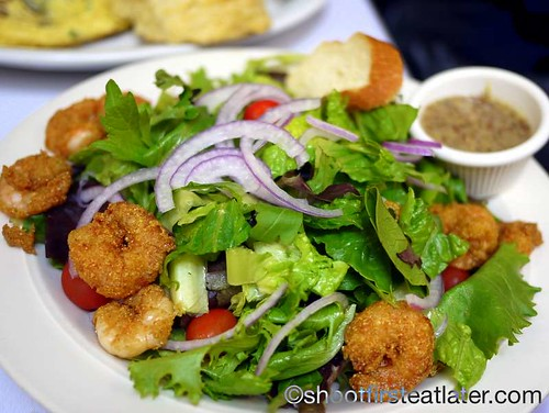house salad with fried shrimp-1