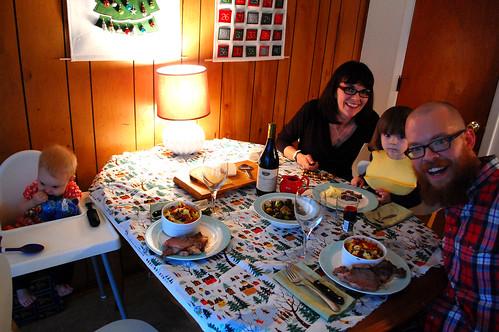 The Christmas feast.
