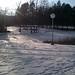Ice skating pond