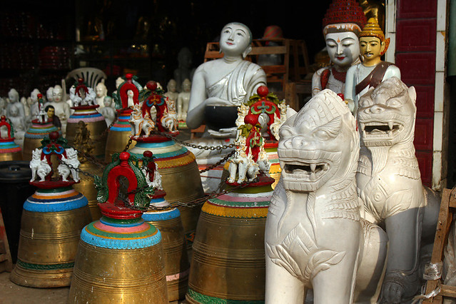 A shop near the East Gate, Swedagon Pagoda, Yangon