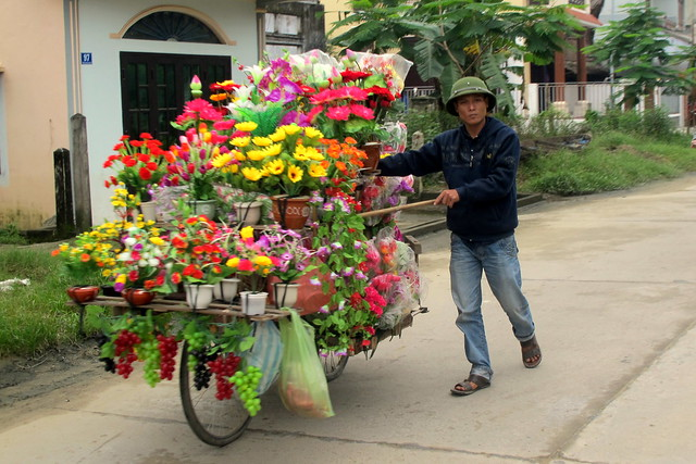Flower Push Bike