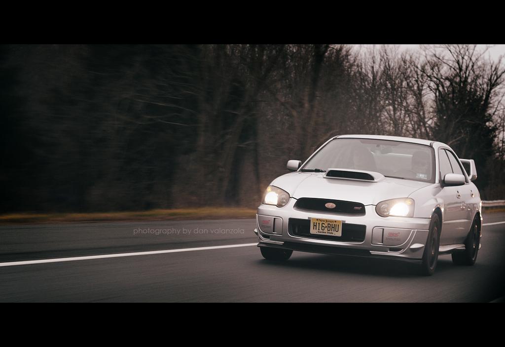 Subaru WRX STi rolling shot