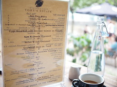 Brunch menu, Toby's Estate, 8 Rodyk Street, Robertson Quay