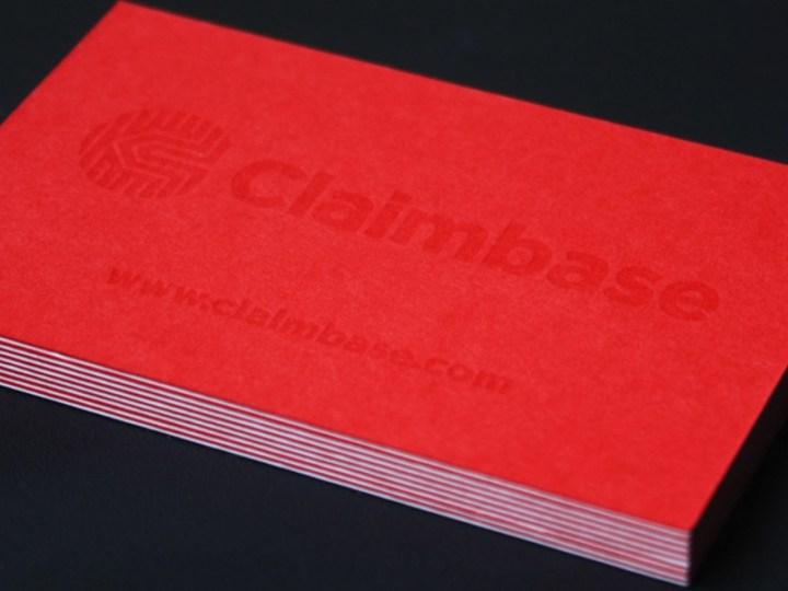 Claimbase Letterpress Business Cards