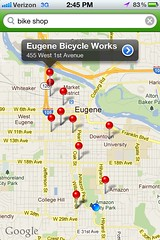 Bike Maps App - Bike Shop Selecte