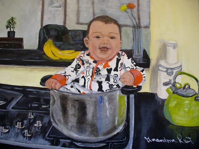 Cooper in a pot