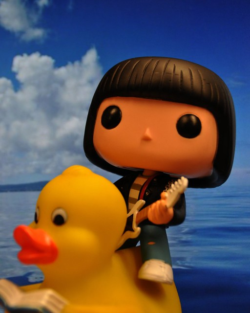 Dee Dee Ramone rides literate ducks into battle