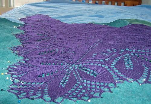 Chicago shawl close up