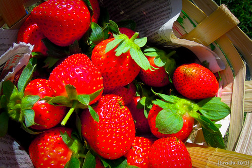 Luscious, Red Strawberries by israelv