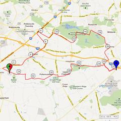 09. Bike Route Map. Hamilton Area YMCA, Crosswicks, NJ