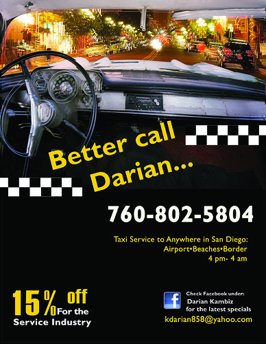 Taxi service poster