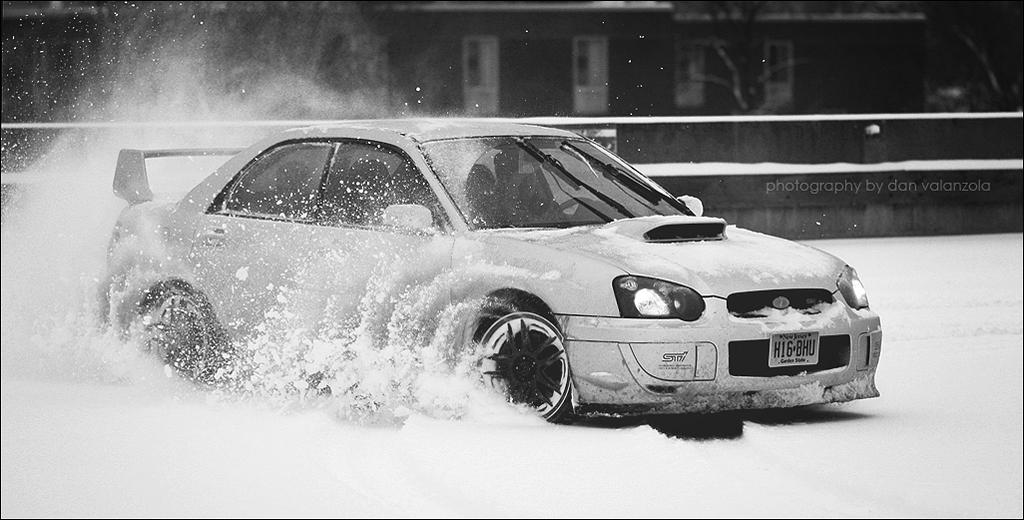 Subaru WRX STi Snow Drifting