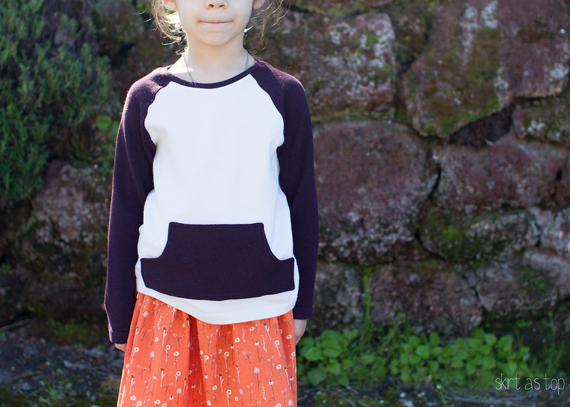 upcycled raglan sweater