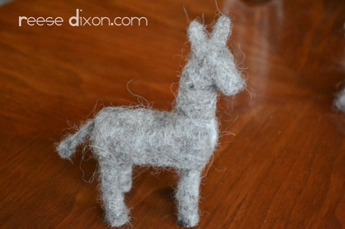 Needlefelted Donkey Tutorial Step 13