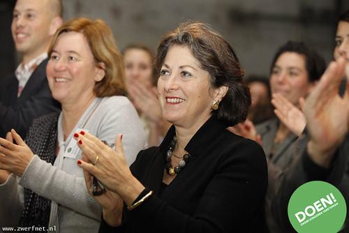 Directeur SZN (Hella Masuger en Staatssecretaris VWS (Marlies van Veldhuijzen van Zanten)