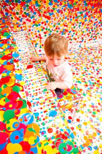 Piano Dots - Yayoi Kusama's 'The obliteration room'