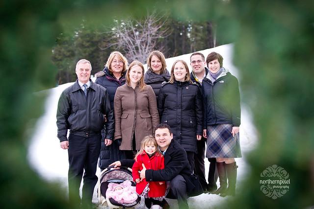 Christmas Eve Family Photo Shoot at UNBC