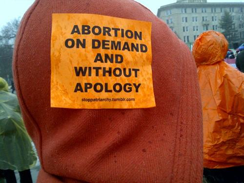 Pro-choice sign
