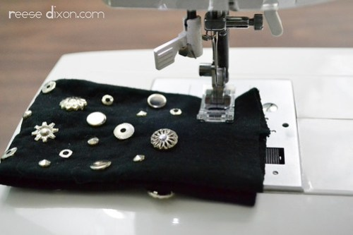 Studded Cuff Bracelet Tutorial Step 6