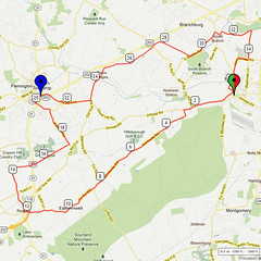 11. Bike Route Map. Somerset Valley YMCA, Hillsborough, NJ