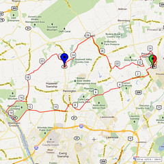 13. Bike Route Map. Princeton NJ