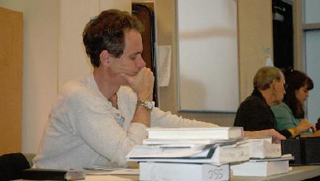 Director David Quicksall in rehearsal