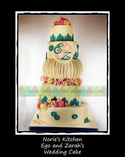 Ego - Zara Wedding Cake - Layout by Norie's Kitchen