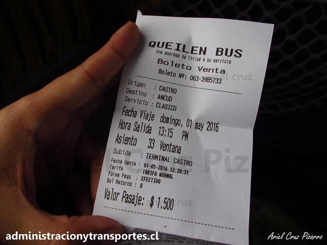 Pasaje Bus Queilen Bus