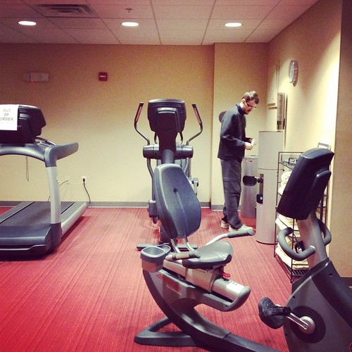 fitness room Hyatt Place Milwaukee West