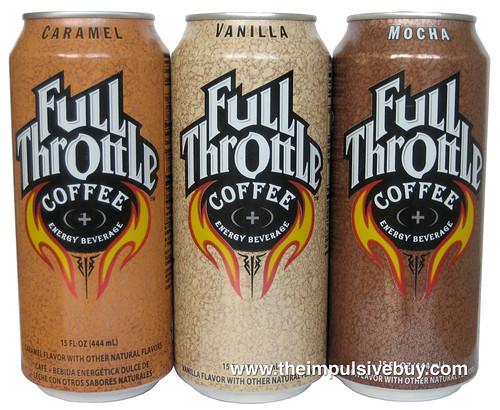 Full Throttle Coffee Energy Drink (Mocha, Vanilla, Caramel)