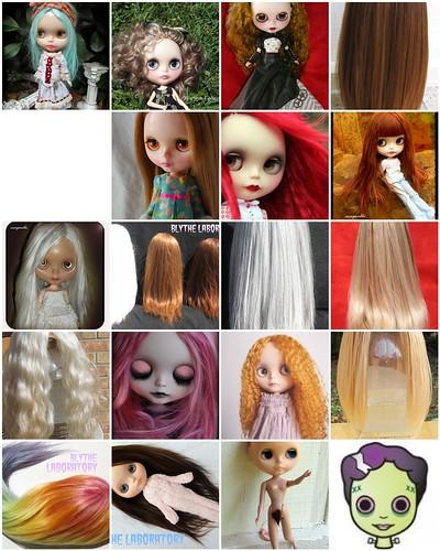 Blythe Laboratory 2011 Hair! by Mnemone