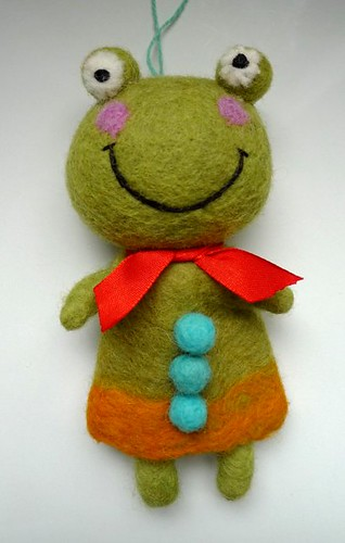 frog felt doll