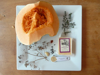 Roasted Pumpkin with Herbs & Cheese - Ingredients