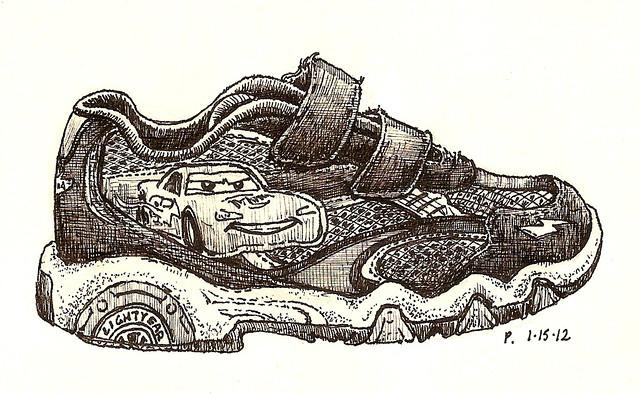 19: lightning mcqueen shoe