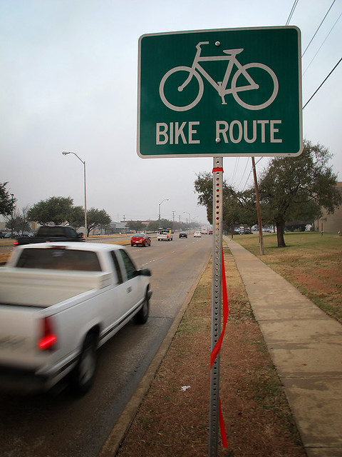 New Bike Signs On Collins