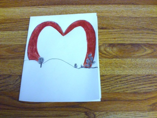 Drawing A Heart Theme For My Sunet Card