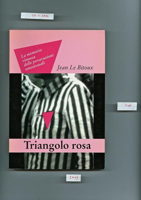 Jean Le Bitoux, Triangolo rosa, Manni 2003. cop. (part.)