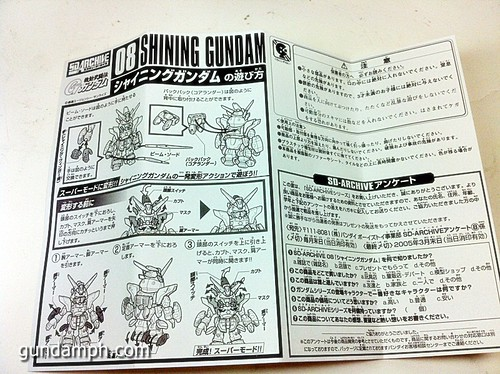 SD Archive Shining Gundam Unboxing Review (14)