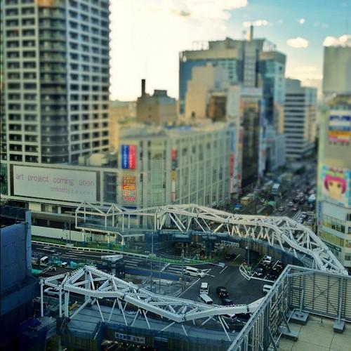 上から見た阿倍野歩道橋 #iphonography #instagram #iphone4s