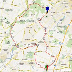 10. Bike Route Map. Cranbury NJ