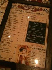 White and rose wine menu, Brasserie Gavroche, 66 Tras Street, Singapore