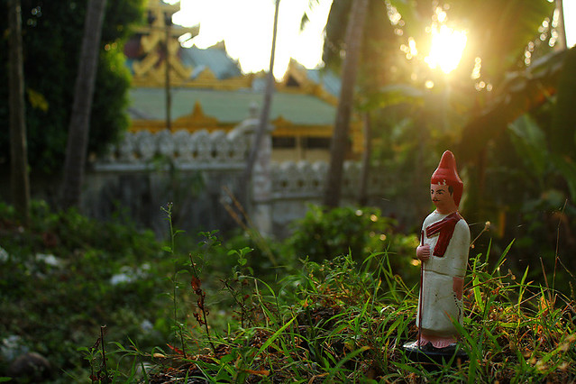I found this tiny statue while walking around Swedagon Pagoda - Yangon