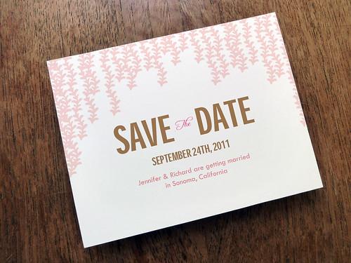 Printable Save the Date - Pink Rain