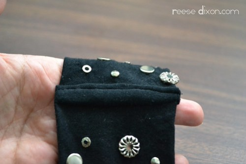 Studded Cuff Bracelet Tutorial Step 7