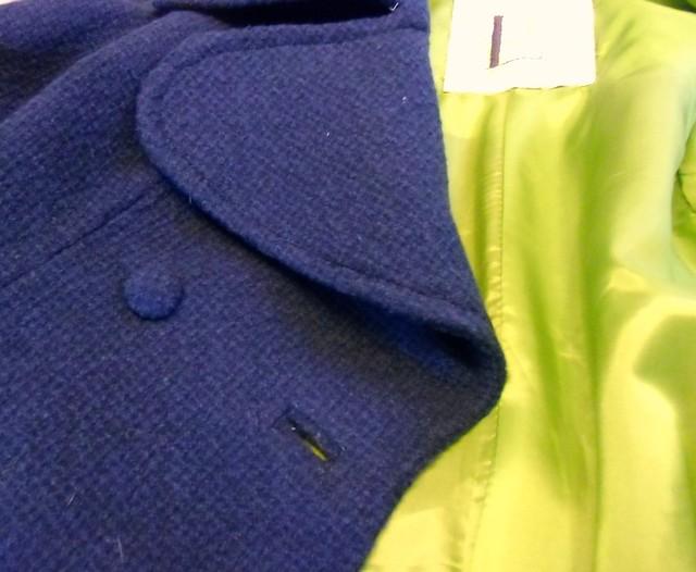 Coat - buttonholes & top stitching