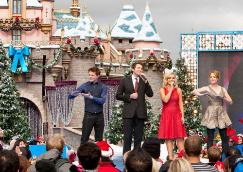 Vocalists Nathan Pacheco and Katherine Jenkins perform for 2011 Disney Parks Christmas Day Parade Airing December 25 on ABC