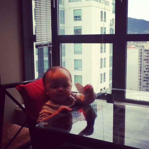 Baby and view