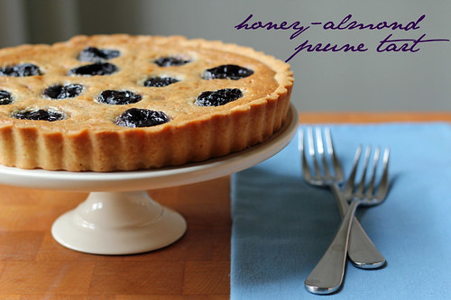 honey-almond prune tart