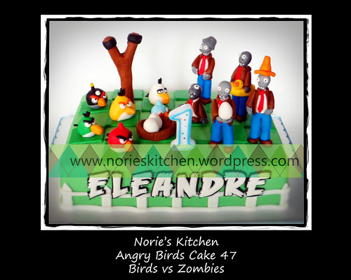 Norie's Kitchen - Angry Birds Cake 47 - Birds vs Zombies by Norie's Kitchen